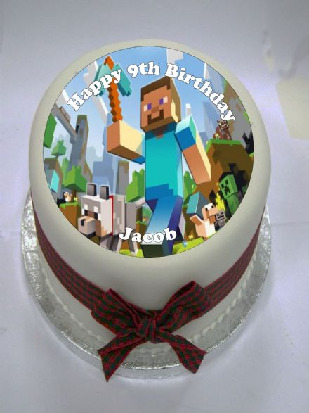 Minecraft Edible Cake Topper (option 1)